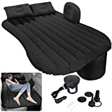 Milky House Car Air Mattress, Removable Gray Backseat Air Bed with Air-Pump, Portable Car Travel Bed with Pillows Fits Most Car Models for Travel, Hiking, Camping, Trip & Outdoor Activities
