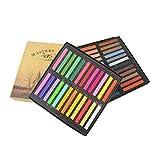 MAID Dibujo Tiza de la acera, Seguro y Polvo de Cal Libre, 12/24/36/48 Color Tiza Pintura for la Pintura Conjunto de palillo de tóner Puede Tinte de Pelo (Color : 48 Colors)