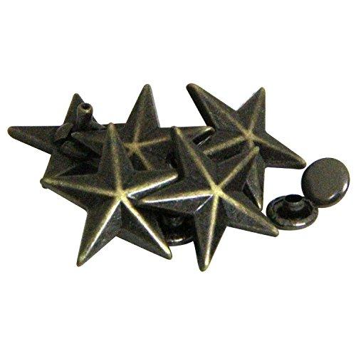 SEIWA 飾りカシメ スターカシメ 大 17mm 5個入 アンティークメッキ
