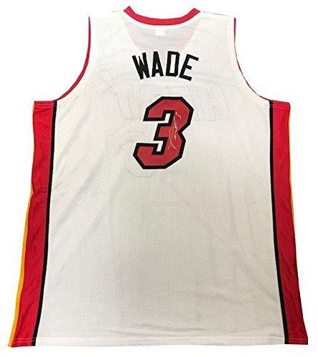 Dwyane Wade Autographed Miami Heat White Custom Jersey - Autographed NBA Jerseys
