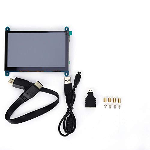 LCD Screen 5-Inch Screen 5-Point Touch Control USB Drive Free Touch Display for Raspberry Pi Mainstream Mini PC