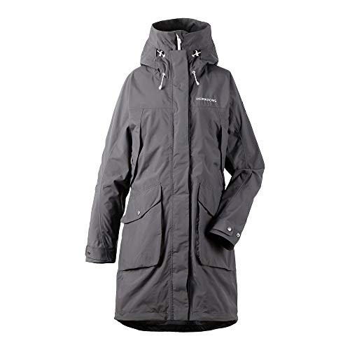 Didriksons Thelma Parka Women - Wasserdichter Outdoormantel, coal black grey, 38