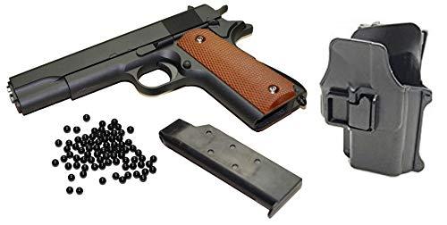 KOSxBO Set Airsoft Pistole - G.13 Vollmetall Metallschlitten, schwarz Cal. 6 mm BB + Softair Munition