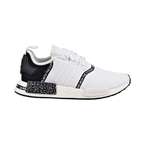 adidas Originals NMD R1 Zapatos Informales de Malla para Hombre, Blanco (Blanco/Blanco/Negro), 42.5 EU
