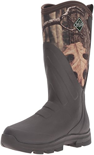 Muck Woody Grit Rubber Mens Work/Hunting Boots, Brown/Mossy Oak, 9-9.5