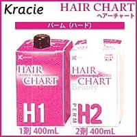 【X2個セット】 クラシエ ヘアーチャート パームH(ハード) 1剤 400ml & 2剤 400ml 医薬部外品
