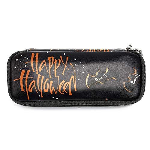TIZORAX Federmäppchen für Halloween, Fledermaus, Kekse, Federmäppchen, Make-up-Tasche für Studenten, Schreibwaren, Stifthalter für Schule/Büro