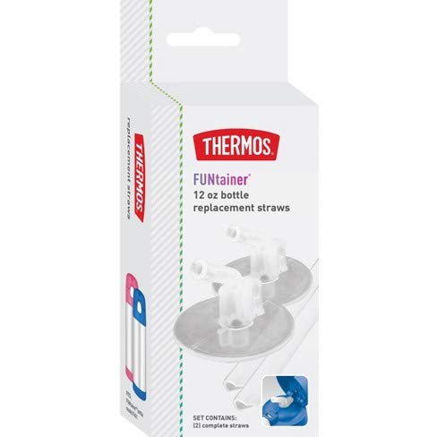 Thermos 12 oz Bottle Replacement Straws - Clear