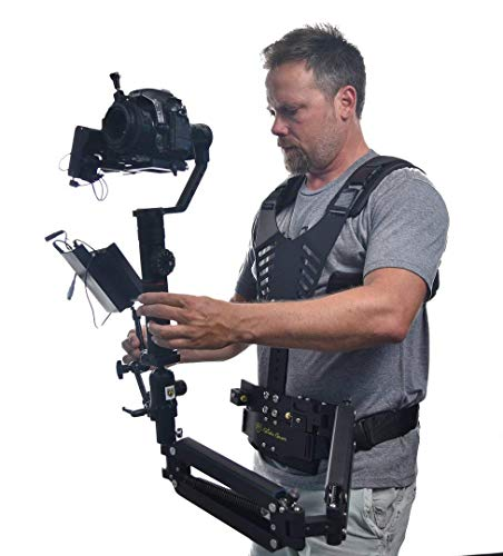 Glide Gear DNA 6000 Video Camera Gimbal 10-16 lbs Adjustable Tension Vest & Arm Dual Spring Ambidextrous Arm Stabilizer System for Ronin S Zhiyun Crane 2