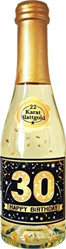 AV Andrea Verlag Pfeif auf\'s Alter 30 im Geschenke Set für Frauen zum Geburtstag mit Piccolo 22 Karat Blattgold Gold schwarz (Piccolo HB Gold 30 56012)