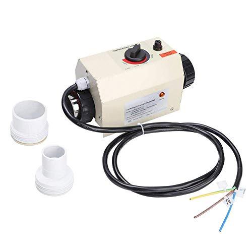 MOZUSA Termostato - 3kW Impermeable Piscina Calentador Termostato Piscina SPA Bañera de hidromasaje Calentador eléctrico Calentador de Agua Bomba Asistente Termostato Digital (UE) Instrumentos