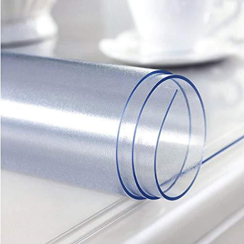 Hule | Mantel Mesa Antimanchas | Mantel Mesa Comedor y Mesa Cocina PVC Impermeable, para Interior y Exterior Transparente (140_x_180_cm, 60)