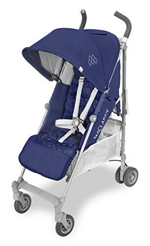 Maclaren Quest, Silla de paseo para recién nacidos hasta los 25 kg, asiento multiposición, suspensión en las 4 ruedas, capota extensible con UPF 50+ ⭐