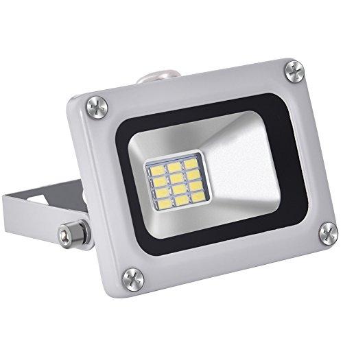 12V 10W LED Fluter, Superhell 800LM Strahler Außen Flutlicht 6000K Tageslichtweiß, Wasserdicht IP65 Scheinwerfer für Garten, Hof, Terrasse, Quadrat, Fabrik von papasbox