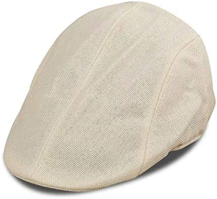 Newsboy At the price of surprise Cabbie Special price for a limited time Hat Linen Winter White Driving Creamy