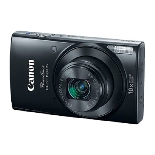 Canon Cameras US 1084C001 Canon PowerShot ELPH 190 Digital Camera w/ 10x Optical Zoom and Image Stabilization - Wi-Fi & NFC Enabled (Black)