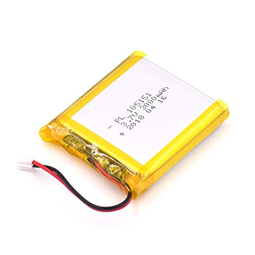 3.7V 3000mAh 105151 Lipo Battery Rechargeable Lithium Polymer ion Battery Pack with JST Connector