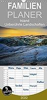 Island - Unberuehrte Landschaften - Familienplaner hoch (Wandkalender 2022 , 21 cm x 45 cm, hoch): Jeden Monat ein Stueck Island - Die schoensten Wasserfaelle und groessten Gletscher Europas (Monatskalender, 14 Seiten )
