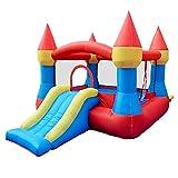 Daxiong Kinder aufblasbare Burg kleine Indoor-Trampolin Home Naughty Castle Slide Toy,190x265x170cm