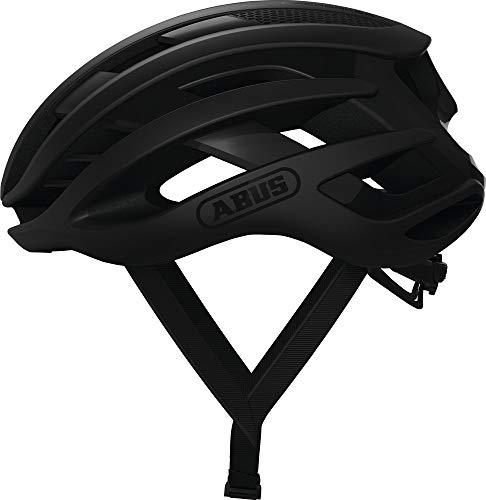 ABUS AIRBREAKER Rennradhelm - High-End Fahrradhelm für den professionellen Radsport - Unisex, für Damen und Herren - 81720 - Schwarz Matt, Größe M