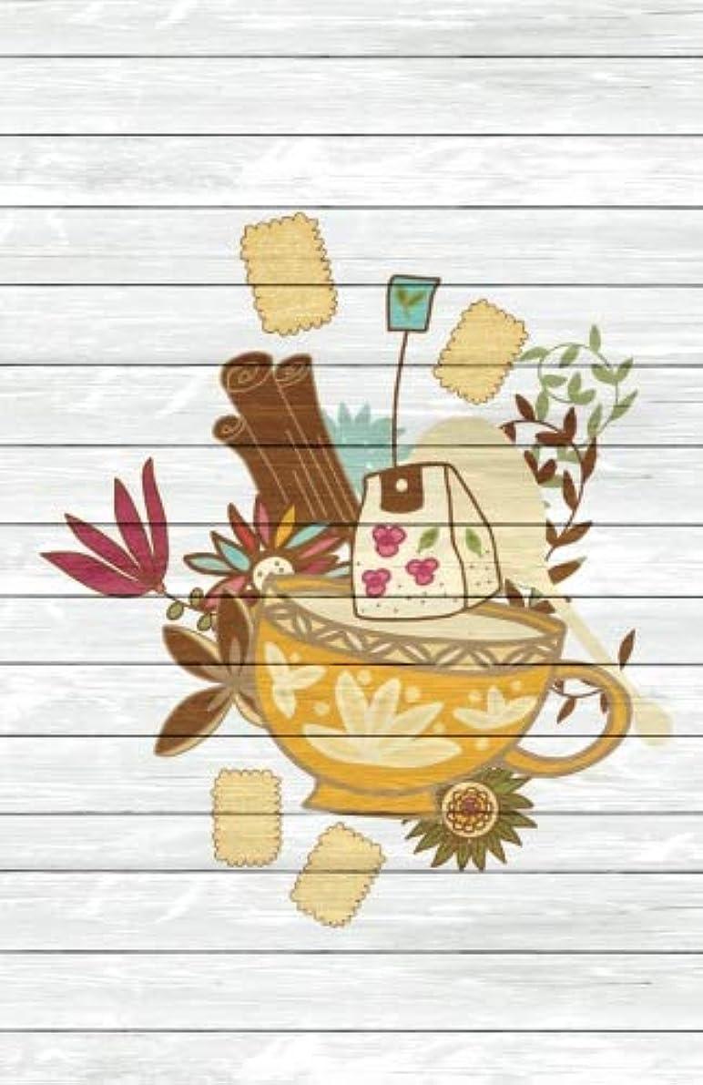 溶けたかんがい完璧Tea Time Creative Journal 3: (5.5 x 8.5 Small)(Dot Grid) Blank Journal Notebook Organizer Planner Sketchbook Gratitude Diary Pocket Size Tea Cup Lover Flowers Spices Strainer Fruit Whimsical