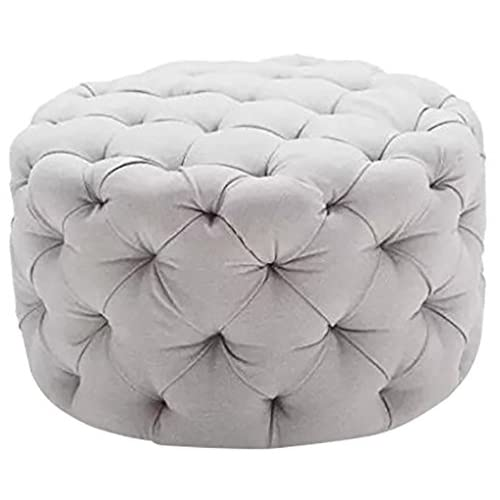 Amazing Round Tufted Ottoman Amazon Com Cjindustries Chair Design For Home Cjindustriesco