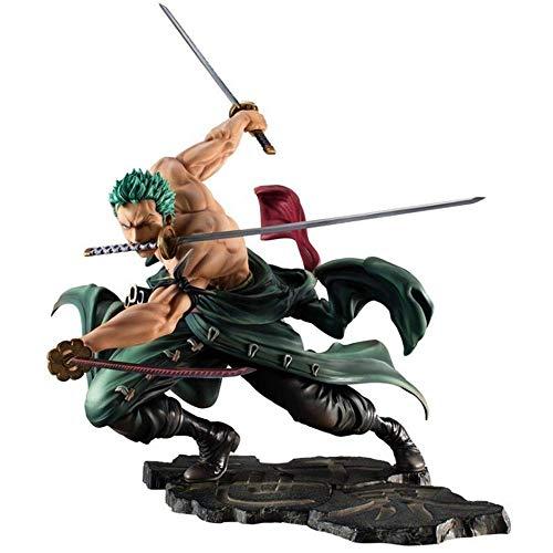 One Piece Action Fogure Zoro Figure Roronoa Zoro Action Figure PVC Action Figure POP Model Gift Size18CM