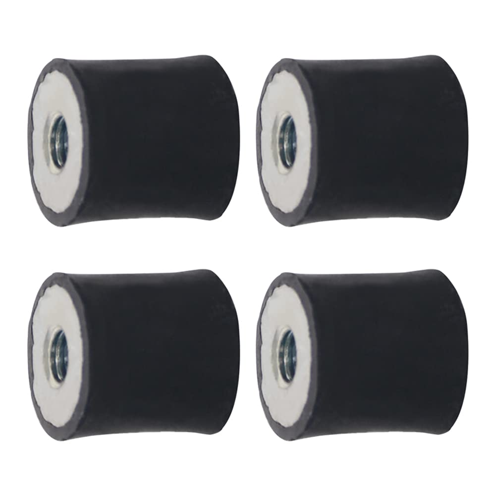 Yinpecly M5 Metric Thread 15 x 15mm Carbon Steel Female Rubber M