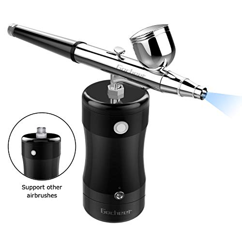 Gocheer Professional Airbrush Kit, Mini Airbrush Single Action Model Airbrush Gun USB Rechargeable...