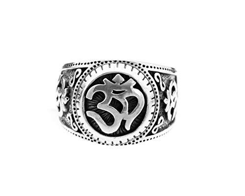 Agathe Creation BA040615 - Anillo de plata 925 (sello), diseño de Om tibetano