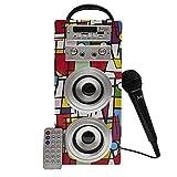 Biwond JoyBox Karaoke Altavoz 10W + Micrófono (Bluetooth TWS, Mando IR AUX, Radio...