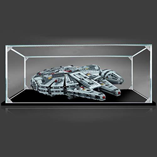 icuanuty Vetrina in Acrilico per Lego Millennium Falcon 75105, Vetrina Antipolvere per Modellismo Collezionismo (Solo Vetrina) - 50 x 35 x 15 cm