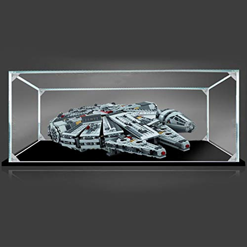 iCUANUTY Vitrina de Acrílico para Lego 75105 Millennium Falcon, Display Case Vitrinas para Colecciones Modelismo (Solo Vitrina) - 50 x 35 x 15 cm