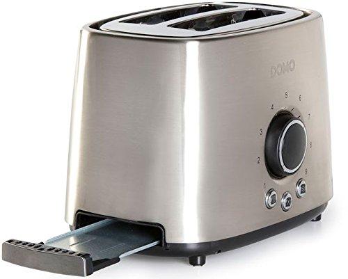 Domo DO956T Edelstahl-Toaster mit 2 Schlitzen