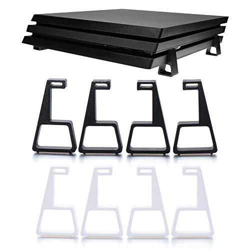 Adecuado para los Accesorios del Juego PS4 Slim Pro, Que se Pueden Colgar Mediante Soportes Verticales/horizontales, ahorran Espacio y Son fáciles de Instalar (Negro/Blanco/Verde/Naranja)-Bl