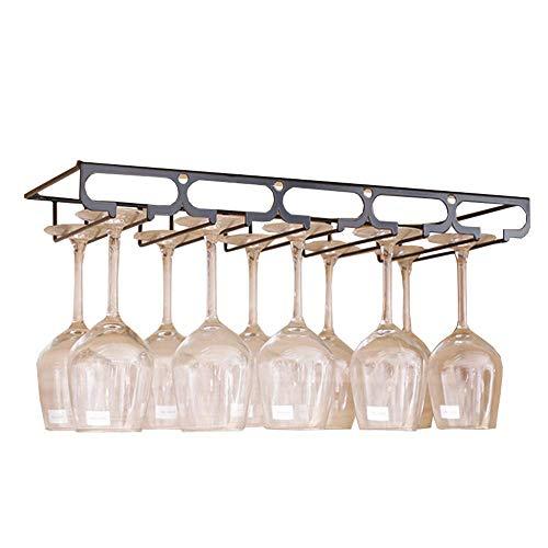 YLongFEI Wijn Glas Houder Goblet Houder Keukenkast Stemware Rack Meerdere Glas Types Duurzame Metalen Frame Lange levensduur Kasten Cocktail Glazen Strijkijzer