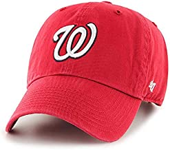 '47 Washington Nationals Red Clean Up Dad Hat Adjustable Slouch Cap