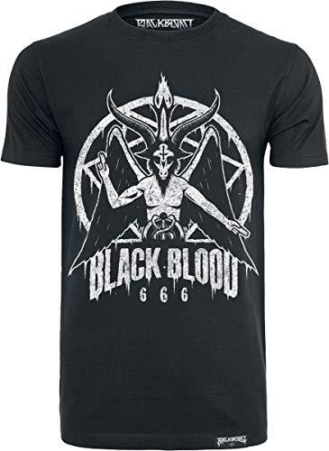 Black Blood by Gothicana Baphomet Homme T-Shirt Manches Courtes Noir L