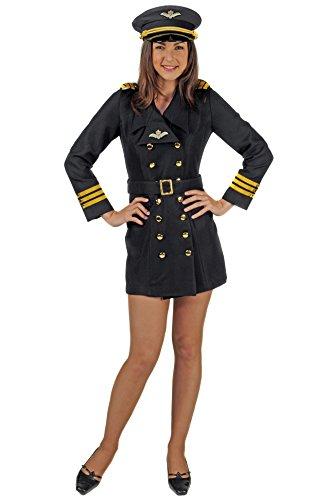 Pilotin / Piloten-Kostüm-Damen (S)