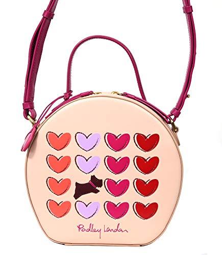 Radley Small Leather Zip Around Grab Cross Body Multiway Bag Love Me Always in Pale Pink