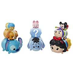 Now you can collect, stack and display a mash-up of your favorite Disney characters in a totally new, whimsical scale Each 9-Pack includes 3 Small, 3 Medium and 3 Large sized Tsum Tsum figures 1 mistery hidden figure in each Tsum Tsum 9-Pack Includes...