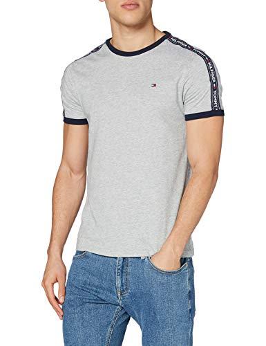 Tommy Hilfiger - UM0UM00562 - Rn Tee Ss - T-shirt - Homme - Gris (Grey Heather 004) - Taille: L