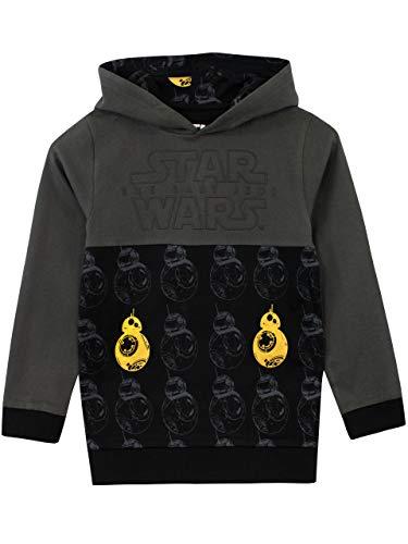 Star Wars - Sudadera con Capucha BB8 - para Niños - 7 a 8 Años