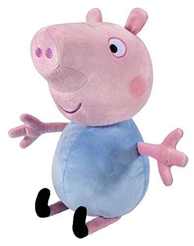 Peppa Pig PEP0727 - Peluche Schorsch Deluxe de Aprox. 55 cm, Figura de Peluche para Dormir, Juguete de Peluche Original para niños a Partir de 24 Meses