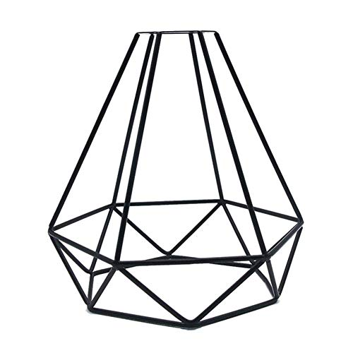 AoJuy Geometrisch Anhänger Metall Lampe Wächter Gitter, Vintage Decken Lampenschirm Eisen Gitter