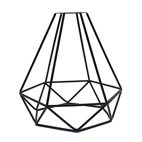 Delidraw Vintage Lampenschirm, Vogelkäfig Lampenschirm, Geometrische Anhänger Metall Lampe Schutz Retro Vintage Decken Lampenschirm Eisen Käfig, Kreativ DIY Basteln
