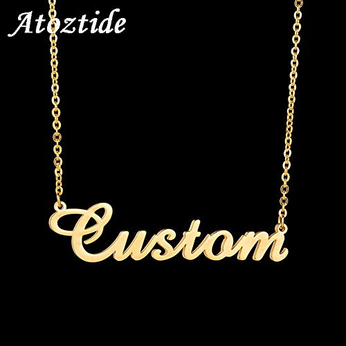 """/""""Mia/"""" Name Necklace 18K Gold Plated Birthday GiftIncludes Free Gift Box /& Bag"""