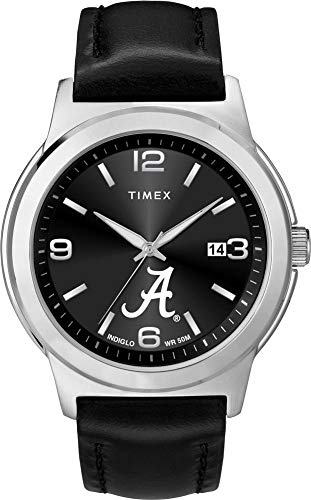 Timex Men's Alabama Crimson Tide Bama Watch Black Leather Band Ace