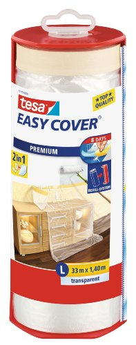 tesa 59179-00003-02 Abdeckfolie Easy Cover Premium, 1.400 mm x 33 m, 33m:1400mm