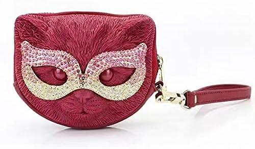 Adamo 3D bag Wristlet Eye Mask Cat Clutch With Strap